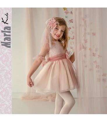 7431fbe32 Vestido de ceremonia para niña de Marla - M015