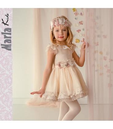 c591e4361 Vestido de ceremonia para niña de Marla - M016