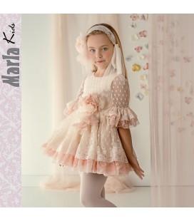 a0c526044 Vestido de ceremonia para niña de Marla - M026