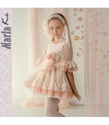 Vestido de ceremonia para niña de Marla - M026