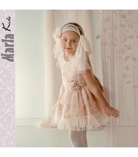 Vestido de ceremonia para niña de Marla - M029
