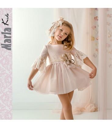 Vestido de ceremonia para niña de Marla - M042