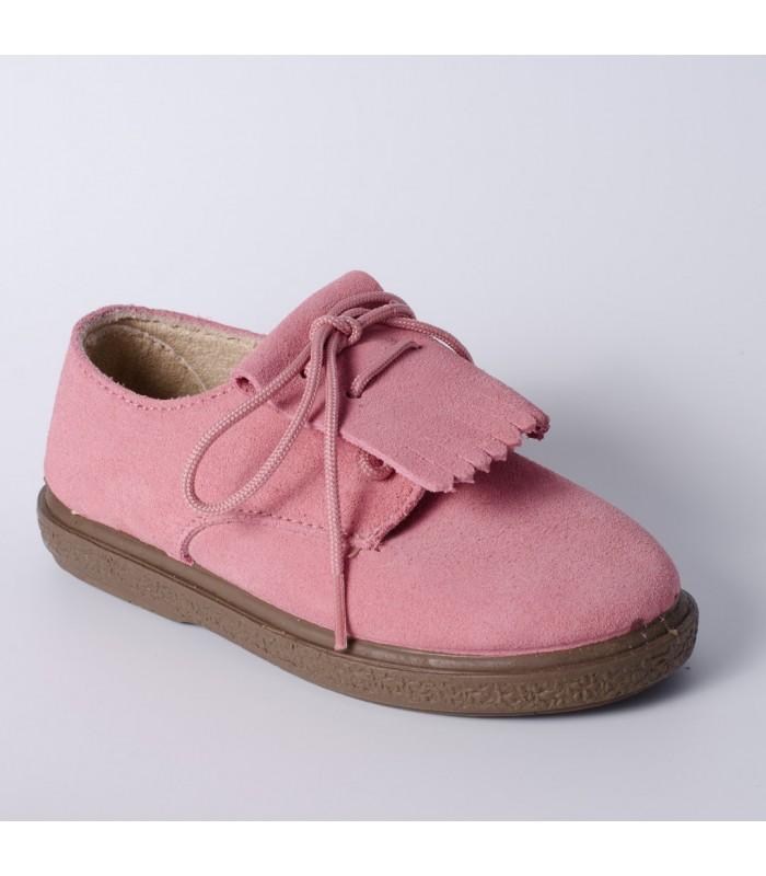 d509d998626 Blucher infantil en serraje rosa palo de Vul-Peques - Adriels Moda ...