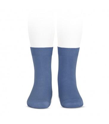 Calcetines básicos punto liso de Cóndor - Azul francia