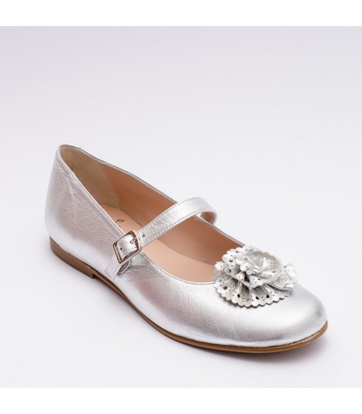 b7f2abc2f Zapatos Primera Comunión para niña color plata