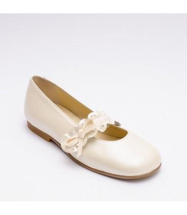 Zapato Primera Comunión para niña - Beige