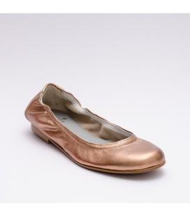 Bailarinas de piel de Calzados Landos - Rosa Maquillaje