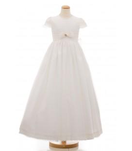 Vestido primera comunión organdí nacional para niña de Mamen