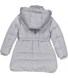 Abrigo gris con lentejuelas para niña de Trybeyond