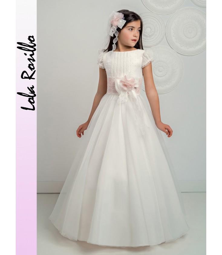 015a89634 Vestido primera comunión de Lola Rosillo - Q235 - Adriels Moda Infantil