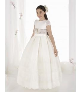 Vestido clásico para primera comunion de Carmy - 9310-EF