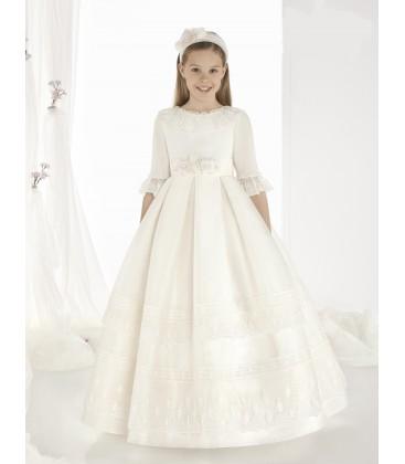 Vestido clásico para primera comunion de Carmy - 9306-EF