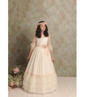 Vestido primera comunión tul Sisi Emperatriz de Quinper