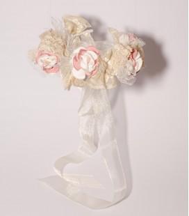 Diadema flores primera comunión de Floritur